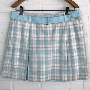 Izod 12 Skort Skirt Blue White Stretch Golf A